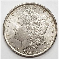 1886 MORGAN DOLLAR XF/AU