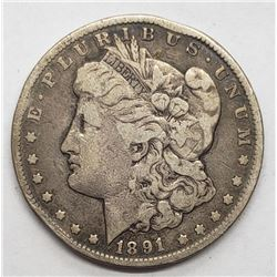 1891-CC MORGAN DOLLAR