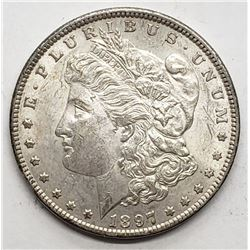 1897 MORGAN DOLLAR XF/AU