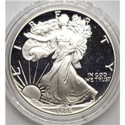 1986 AMERICAN SILVER PROOF EAGLE