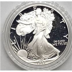 1987 AMERICAN SILVER PROOF EAGLE