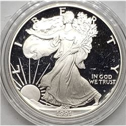 1991 AMERICAN SILVER PROOF EAGLE