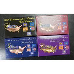 1999 STATE QTR PLATINUM, GOLD, P&D