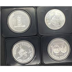 1974, 1975, 1976, 1977 CANADA SILVER DOLLARS