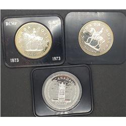 3-CANADA SILVER DOLLARS (2) 1973