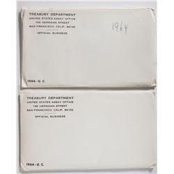2-1964 U.S. MINT SET - ORIGINAL PACKAGES