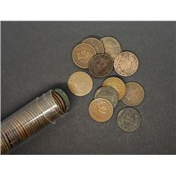 (57) MIXED INDIAN CENTS in TUBE