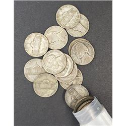 1944-S WAR NICKEL ROLL (40 SILVER COINS)