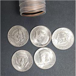(20) 1971-D KENNEDY HALF DOLLARS AU/BU