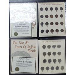 LAST 20 YRS INDIAN HEAD & BUFFALO 5c BOOKS