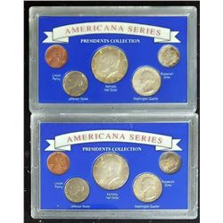 2-1964 AMERICANA SERIES COIN SETS