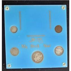1904 BIRTH YEAR 5 COIN SET