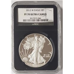 2012-W AMERICAN SILVER EAGLE NGC PR70DCAM