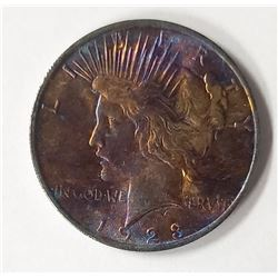 """1923 """"RAINBOW"""" PEACE DOLLAR"""