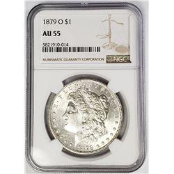 1879-O $1 Morgan Silver Dollar NGC AU55