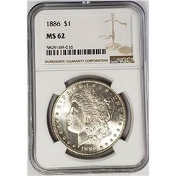 1886-P Morgan Silver Dollar $1 NGC MS62
