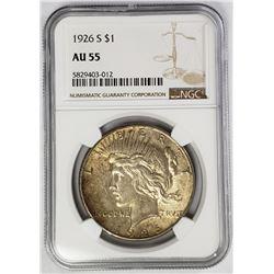 1926-S Peace Dollar $1 NGC AU55