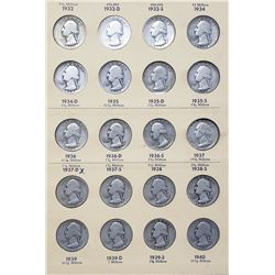 1932-1963 WASHINGTON QTR SET
