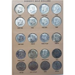 KENNEDY HALF DOLLAR COMPLETE SET