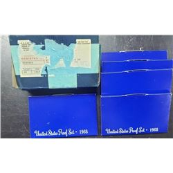 5-1968 U.S. PROOF SETS in ORG MAILER