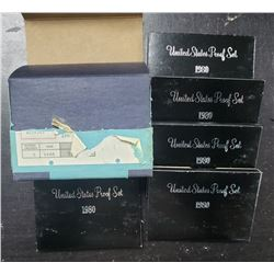 5-1980 U.S. PROOF SETS in ORG MAILER