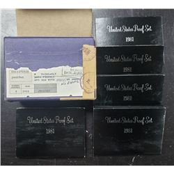 5-1981 U.S. PROOF SETS in ORG MAILER