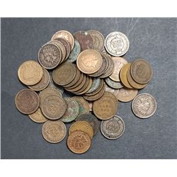 50- INDIAN CENTS - MIXED