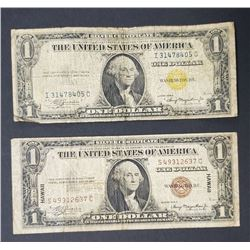 """""""NORTH AFRICA"""" & """"HAWAII"""" $1 SILVER CERTS"""