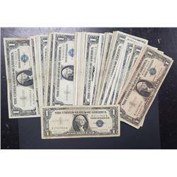 50-$1 SILVER CERTIFICATES