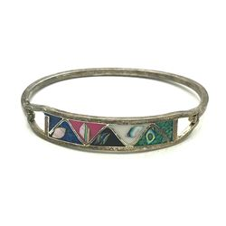 .925 MEXICO BRACELET W INLAY STONES