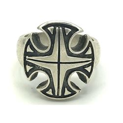 MALTESE STERLING CROSS RING