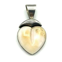 DTR MARKED PENDANT STERLING WITH LARGE STONE