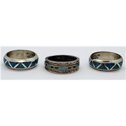 3-TURQUOISE / STERLING RINGS