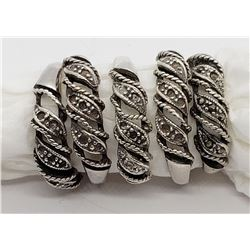 5-MATCHING STERLING RINGS