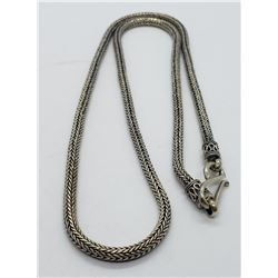 .925 BA STERLING ROPE NECKLACE