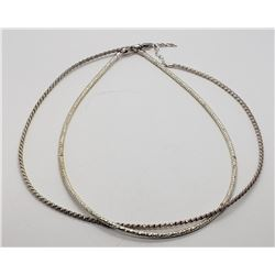 2-.925 STERLING NECKLACES MODERN