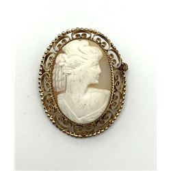 1/20 12K GOLD FILLED CAMEO BROOCH
