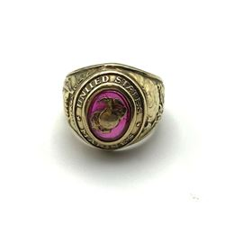 UNITED STATES MARINES 10K GOLD RING