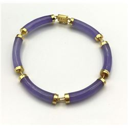 14K PURPLE JADE BRACELET