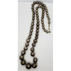 VINTAGE STERLING BEADED NECKLACE