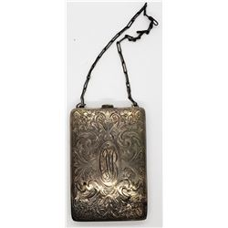 VINTAGE STERLING MONEY PURSE WITH FLORAL
