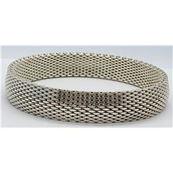 THICK! WOVEN STERLING BRACELET