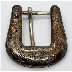 WESTERN TRAILS STERLING BELT BUCKLE
