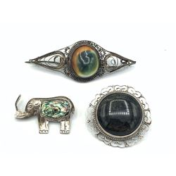 3 BROOCHES VINTAGE AND HANDMADE