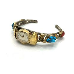 STERLING/GOLD FILLED WATCH CUFF WITH