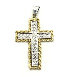 10K & .925 CROSS PENDANT