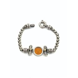 18K AND .925 BRACELET W ANGELS-RESIN