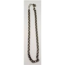 18 INCH MEN'S STERLING LINKED NECKLACE