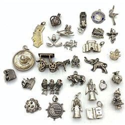 HUGE LOT OF CHARMS FOR CHARM BRACELET!!!