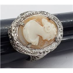 ONE OF A KIND CAMEO RINGS WITH LIGHT PINK